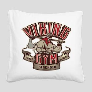 Viking Gym Square Canvas Pillow