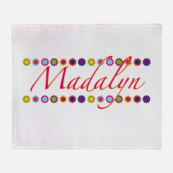 Madalyn with Flowers Throw Blanket