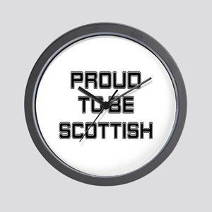 Proud to be Scottish Wall Clock