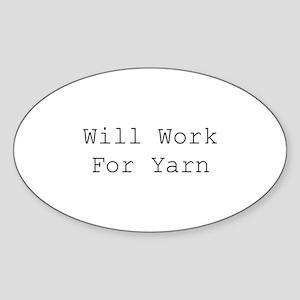 Will Work For Yarn Sticker
