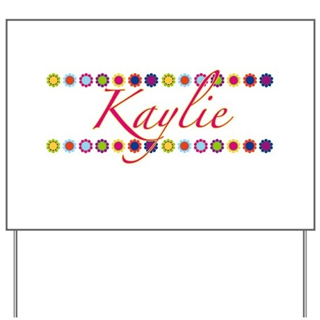 Kaylie with Flowers Yard Sign