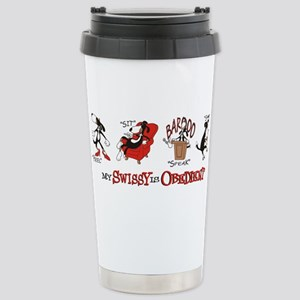 My Swissy IS Obedient Stainless Steel Travel Mug