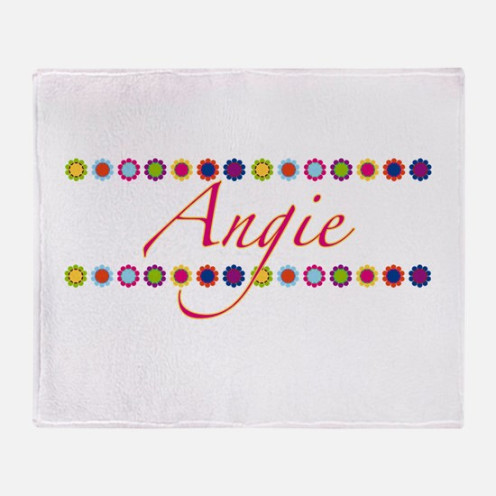 Angie with Flowers Throw Blanket