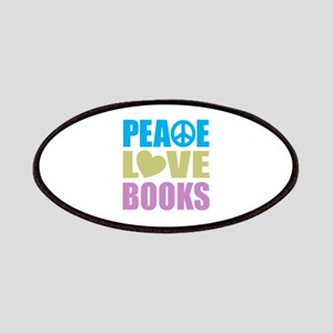 Peace Love Books Patches