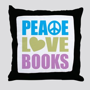 Peace Love Books Throw Pillow