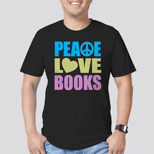 Peace Love Books Men's Fitted T-Shirt (dark)