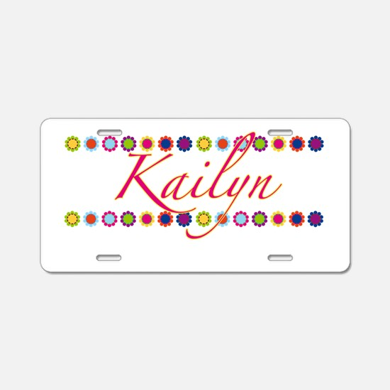 Kailyn with Flowers Aluminum License Plate