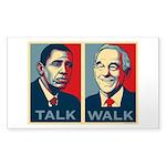 Walk the Talk Sticker (Rectangle 50 pk)