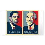 Walk the Talk Sticker (Rectangle)