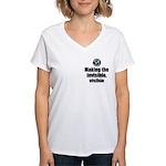 Making Visible Women's V-Neck T-Shirt
