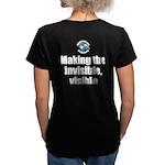 Making Visible Women's V-Neck Dark T-Shirt