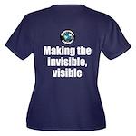 Making Visib Women's Plus Size V-Neck Dark T-Shirt