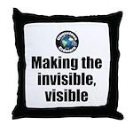 Making Visible Throw Pillow