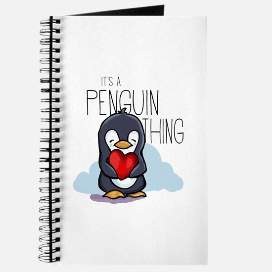 Cute Penguins love Journal