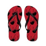 Bagpipes Red and Black Flip Flops