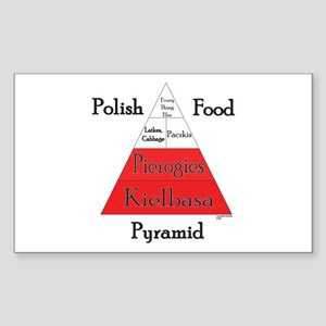 Polish Food Pyramid Sticker (Rectangle)