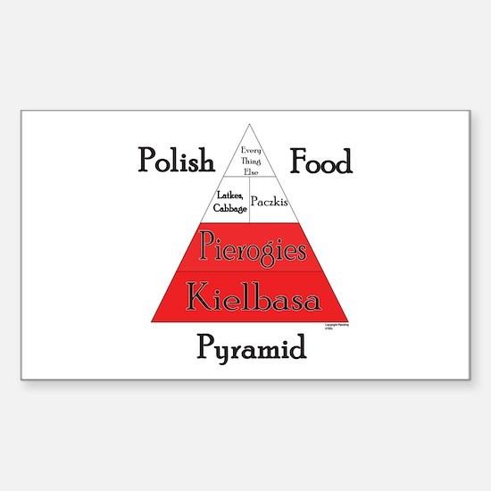 Polish Food Pyramid Sticker (Rectangle)