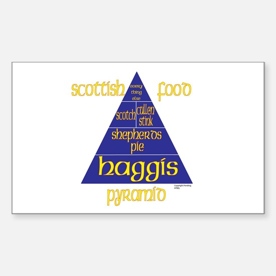 Scottish Food Pyramid Sticker (Rectangle)