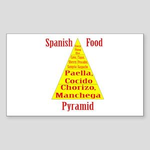 Spanish Food Pyramid Sticker (Rectangle)
