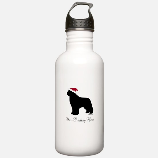 Newf Santa - Your Text Water Bottle