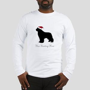 Newf Santa - Your Text Long Sleeve T-Shirt