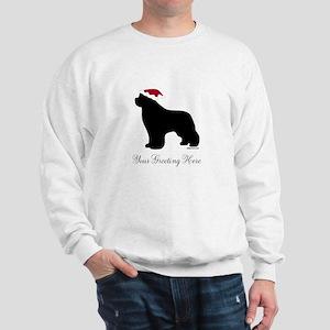 Newf Santa - Your Text Sweatshirt