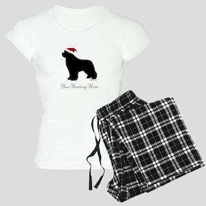 Newf Santa - Your Text Women's Light Pajamas