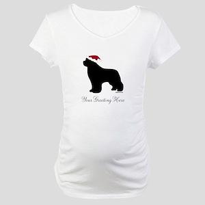 Newf Santa - Your Text Maternity T-Shirt