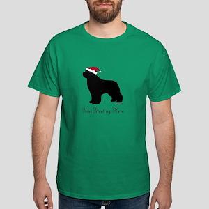 Newf Santa - Your Text Dark T-Shirt