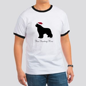 Newf Santa - Your Text Ringer T
