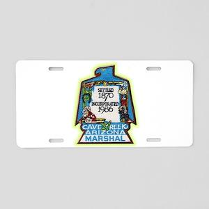 Cave Creek Marshal Aluminum License Plate