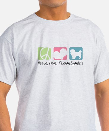 Peace, Love, Tibetan Spaniels T-Shirt