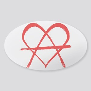 Love is Freedom Sticker (Oval)