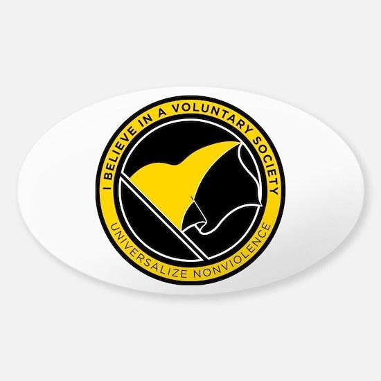 Voluntary Society Sticker (Oval)
