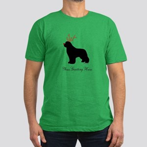 Reindeer Newf - Your Text Men's Fitted T-Shirt (da