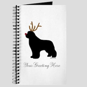 Reindeer Newf - Your Text Journal