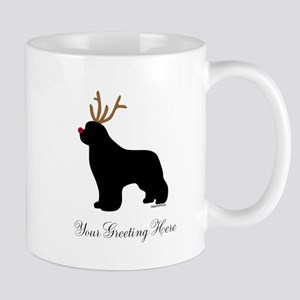 Reindeer Newf - Your Text Mug