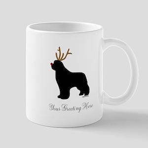 Reindeer Newf - Your Text Mug