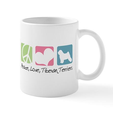 Peace, Love, Tibetan Terriers Mug