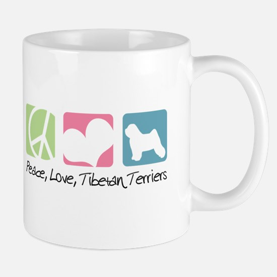 Peace, Love, Tibetan Terriers Mug