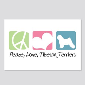 Peace, Love, Tibetan Terriers Postcards (Package o
