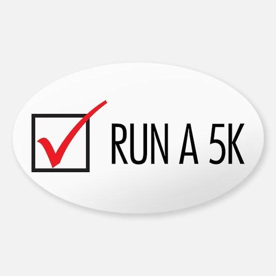 Run a 5k Sticker (Oval)