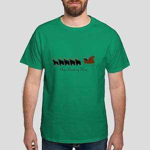 Newf Sleigh - Your Text Dark T-Shirt