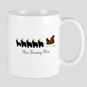 Newf Sleigh - Your Text Mug