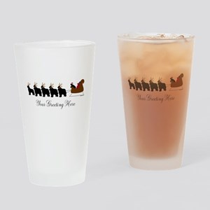 Newf Sleigh - Your Text Drinking Glass