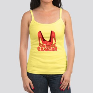 Crush Cancer with Pink Heels Jr. Spaghetti Tank