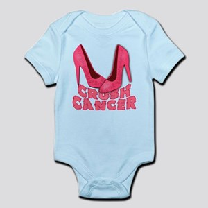 Crush Cancer with Pink Heels Infant Bodysuit