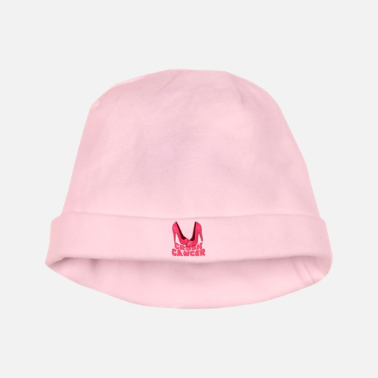 Crush Cancer with Pink Heels baby hat