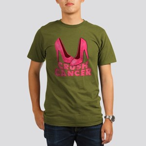 Crush Cancer with Pink Heels Organic Men's T-Shirt