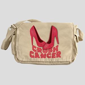 Crush Cancer with Pink Heels Messenger Bag